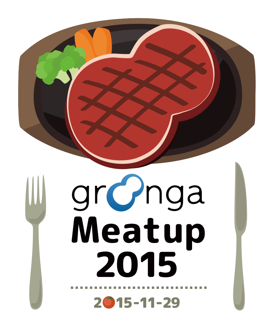Groonga Meatup 2015 Tシャツ